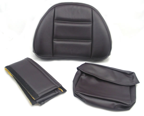 Backrest Pad Replacement Set - Burgundy