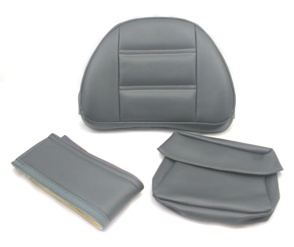 Backrest Pad Replacement Set - Gray/light