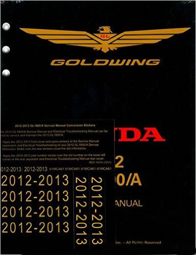 Service Manual, Honda Gold Wing GL1800 12-13