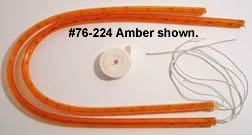 Strip lights, rotor cover (25 inch) - Amber