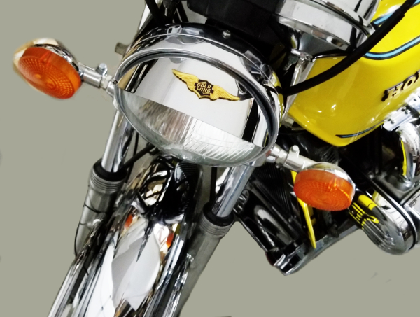 Headlight visor with curved emblem GL1000 GL1100