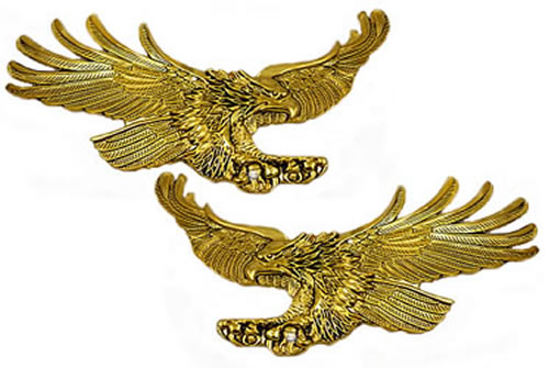 Right/ Left emblem set, screaming eagles 4.25-inch