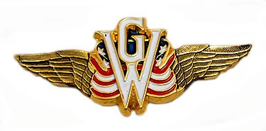 Flying Wings, GW and US flag 3 1/8-inch